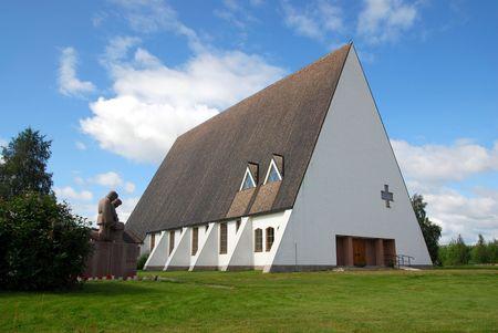 blu sky: Salla church