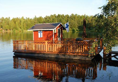 Finnish beach sauna