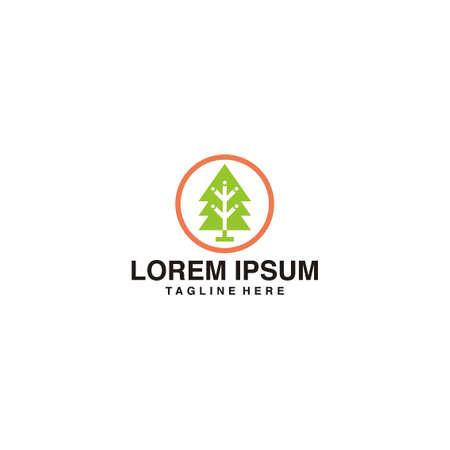Simple Tree Logo Vector Icon Illustration