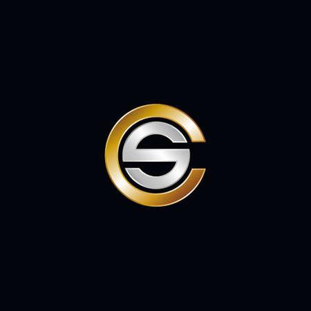 SC company linked letter logo Logó