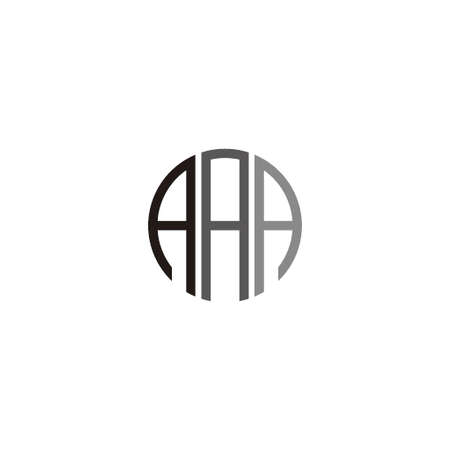 Initial Letters AAA logo icon Vector Illustration