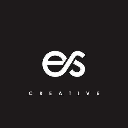 ES Letter Initial Logo Design Template Vector Illustration Logó