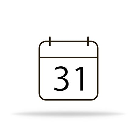 Calendar icon in flat design with shadow. Meeting reminder. Vector EPS 10