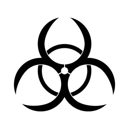 Biohazard warn symbol. Isolated chemical hazard icon. Biological danger warn. Radiation caution zone. Vector EPS 10.
