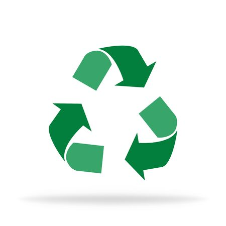 Recycle isolated icon. Recycling trash to care about world logo. Waste garbage safely. Triangle arrows of reduce concept sign. Vector EPS 10