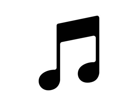 Musical notation in black. Illustration of music symbol. Classic melody sign in flat design. Chords icon silhouette. Key note for piano and guitar. Vector EPS 10