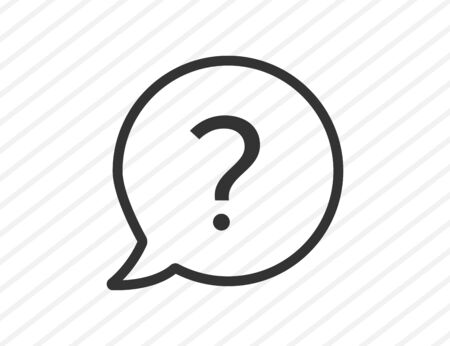 Question mark icon. Isolated question symbol. Bubble design for faq or answer in round shape. Information button. Asking sign. Vector EPS 10.