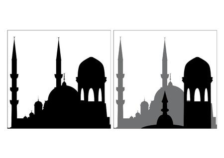 清真寺的剪影