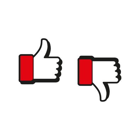 Approved and reject icons thumb up and down vector illustration