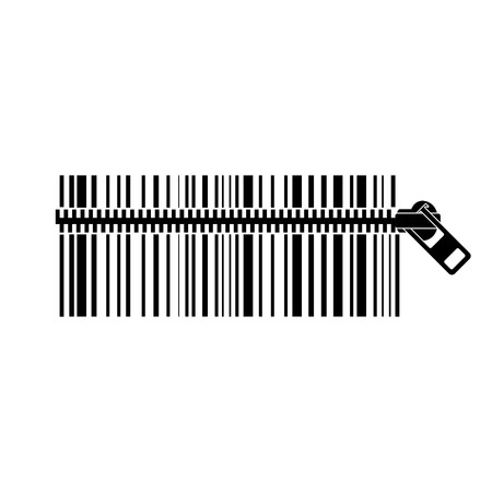 Realistic Barcode icon isolated Vector illustration.