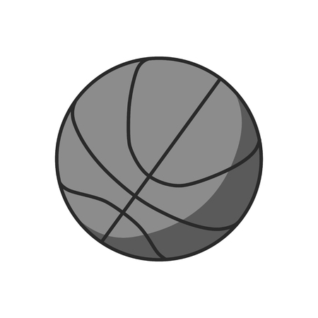 illustration of a basketball outline isolated