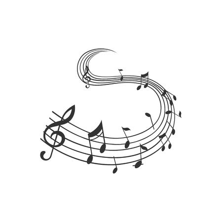 Abstract music background vector illustration for your design. Ilustração