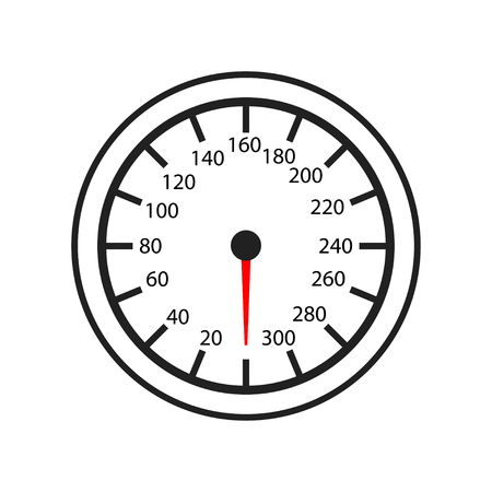 speedometr, odometer isolated icon on white background, auto service, repair, car detail Иллюстрация