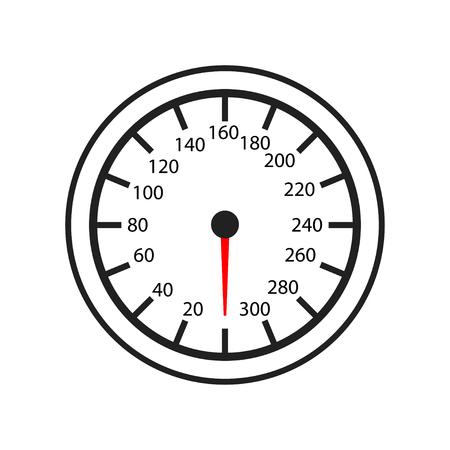 Tachometer, Kilometerzähler isoliertes Symbol auf weißem Hintergrund, Autoservice, Reparatur, Autodetail