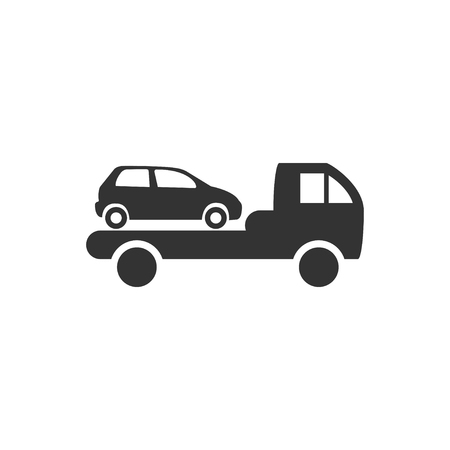 Car towing truck icon. Illustration