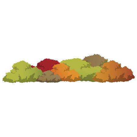 Set of bushes landscape isolated icon, vector illustration,flat design.