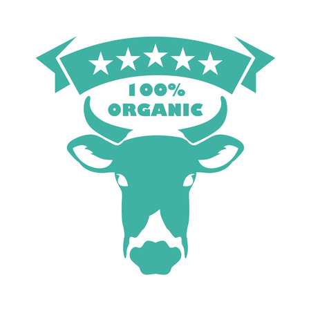 Milk logo template for groceries, agriculture stores, packaging and advertising Standard-Bild - 110211749