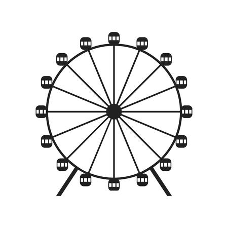 Ferris wheel icon Иллюстрация