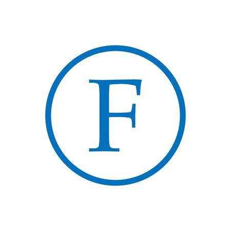 JF initial monogram logo Illustration