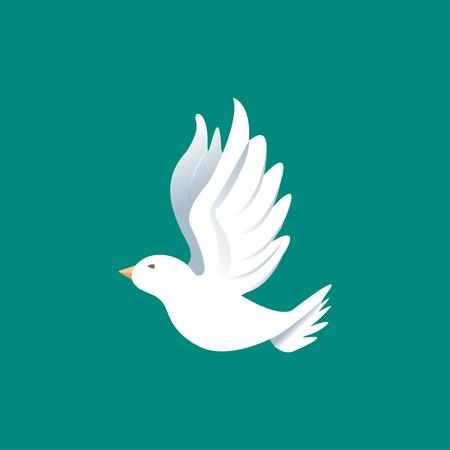 Vector color image of a bird, bird design icon