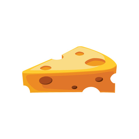 Cheese flat icon, food & drink elements, Dairy sign, a colorful solid pattern on a white background