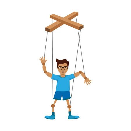 mano con marioneta. ilustración vectorial - eps 10 Ilustración de vector