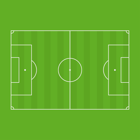Soccer field standard lines. football field vector illustration Standard-Bild - 109644713