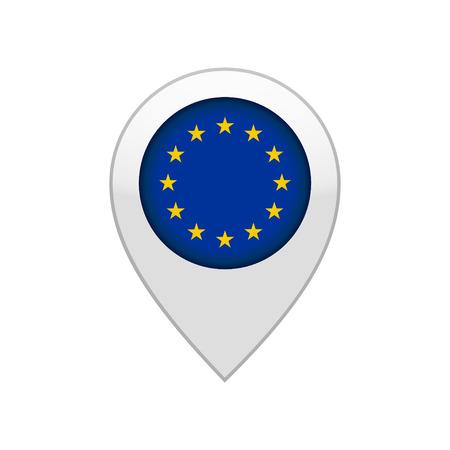 map pin of EU 向量圖像