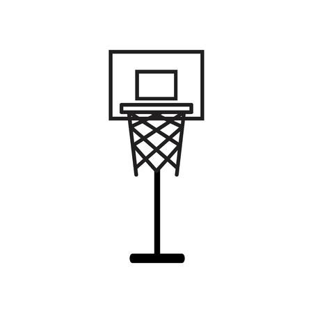 basketball basket icon on white background