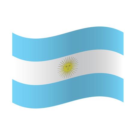 Wektor flaga Argentyny, ilustracja flaga Argentyny, obraz flagi Argentyny, obraz flagi Argentyny Ilustracje wektorowe