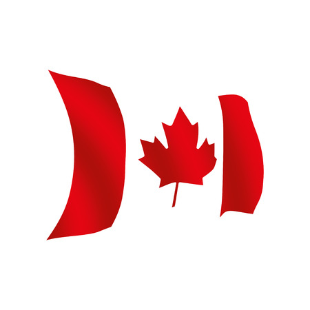 Canada flag, official colors and proportion correctly. National Canada flag vector illustration. High detailed vector flag of Canada. Canada flag, vector illustration.