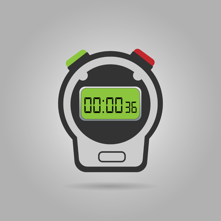 Digital stopwatches and countdown timers for coaches, sports, personal training, interval fitness training and workout routines Illustration