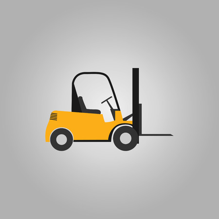 Forklift in yellow color illustration  イラスト・ベクター素材