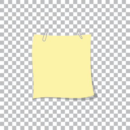 Post note paper sticker pin on translucent sticky tape with shadow isolated on transparent background. Standard-Bild - 109644811