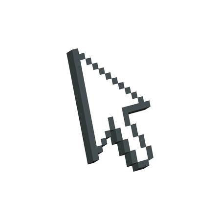 Pixel arrow cursor Icon. Archivio Fotografico - 109644825