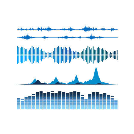 Sound waves set. Music background. vector file included 일러스트