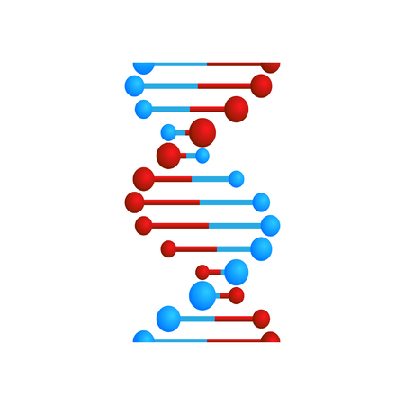 paper sticker on stylish background DNA