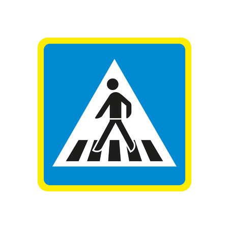 Germany Pedestrian Crossing Sign
