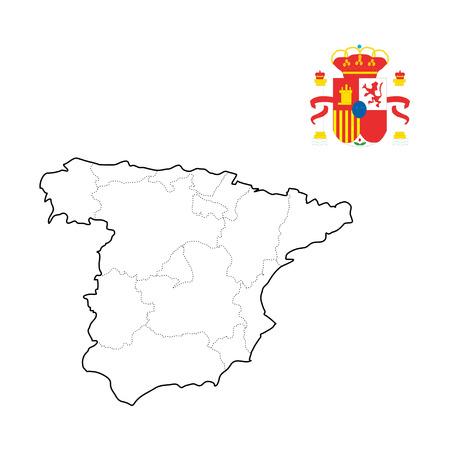 Map - Spain with logo Ilustração