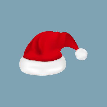 Vector of red Santa Claus hat. Illustration