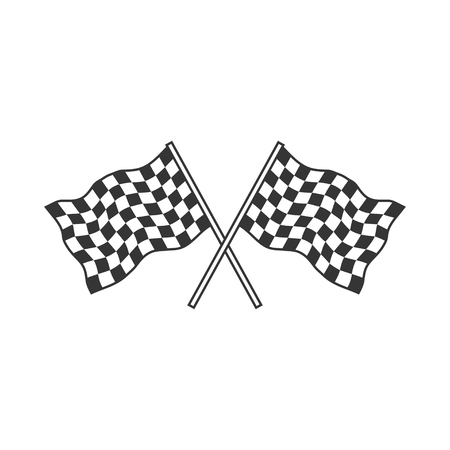 Checkered Flags (racing flags). Vector illustration. Ilustrace