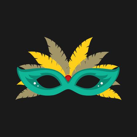 Mask cartoon flat icon. Brazil. Ceremony.Vector illustration