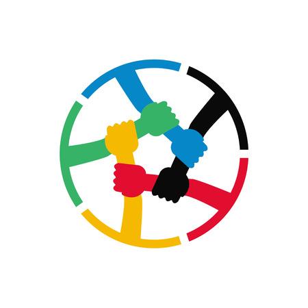 Teamwork-Vektor-Symbol