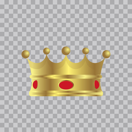 Golden Crown, With Gradient, Vector Illustration