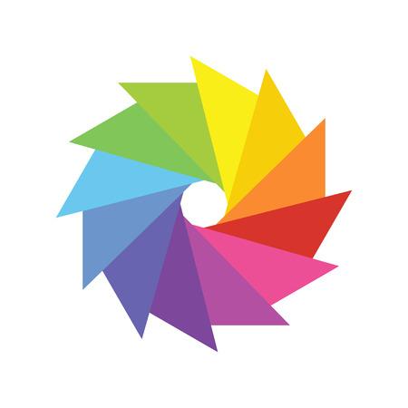 colorful logo design template vector illustration on white background