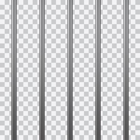 Barreaux de prison isolés sur transparent. Illustration vectorielle. Vecteurs