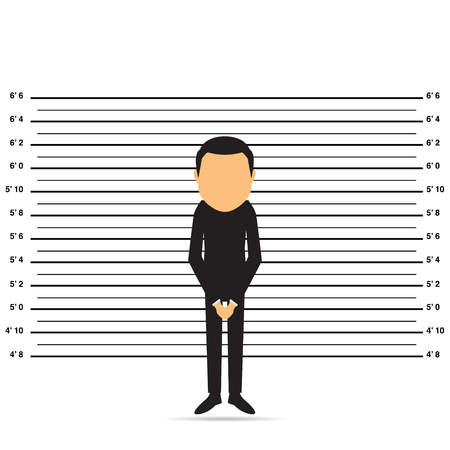 prisoner. Character design. Cartoon vector illustration