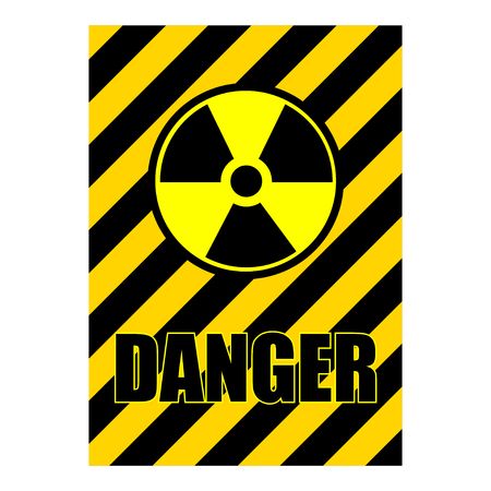 grungy danger sign with bullet holes, vector illustration