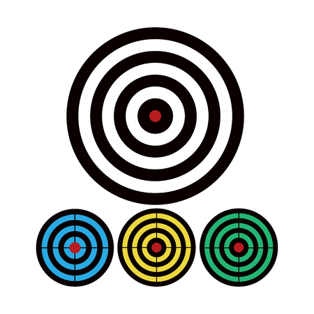 Shooting target vector icon set illustration isolated on white background.