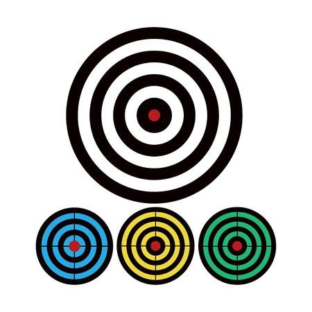Shooting target vector icon set illustration isolated on white background. Standard-Bild - 120066889
